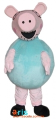 Adult Fancy Papa Pig Mascot Costume Cartoon Character mascot suit