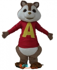 Adult Fancy Alvin Chipmunks Mascot Costume Cartoon Character mascot suit