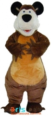 Adult Fancy Masha Bear Mascot Costume Cartoon Character mascot suit