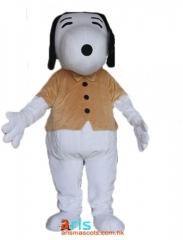 Adult Fancy Snoopy Dog Mascot Costume Cartoon Character mascot suit