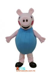 Adult Fancy George Pig Mascot Costume Cartoon Character Mascot Outfits for Party Funny Mascot Costumes