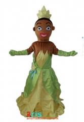 Adult Fancy Princess Tiana Mascot Costume Disney Princess Costumes for Birthday Party Funny Cosplay Mascot