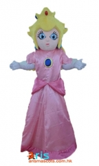 Adult Fancy Princess Peach Mascot Costume Disney Character Costumes Party Funny Mascot Costumes