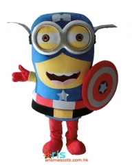 Adult Fancy American Captain Minion Mascot Costume Cartoon Character  Dress Funny Mascot Costumes for Sale Mascot Production Company