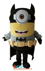 Adult Fancy Batman Minion Mascot Costume Cartoon Character Costumes for Sale Batminion Costume