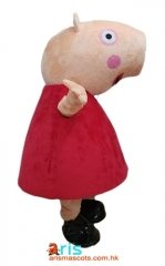 Adult Fancy Peppa Pig Mascot Costume For Birthday Party Buy Mascots Online at ArisMascots Custom Mascot Production