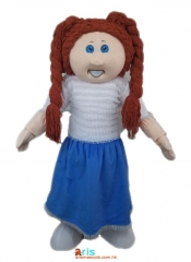 Adult Fancy Cabbage Patch Kid Mascot Costume Funny Mascot Costumes Professional Mascot Design