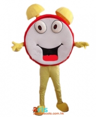 Adult Size Fancy Clock Mascot Suit Advertising mascot outfit