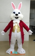 Adult Size Fancy Easter Bunny mascot costume Holiday Mascots Design Company Funny Mascot Costumes