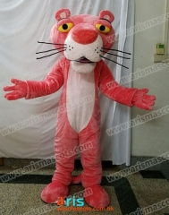 Adult Fancy Pink Panther Mascot Costume Cartoon Character mascot suit