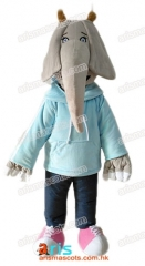 Fancy  Sing Character Elephant mascot outfit Party Costume Carnival Dress