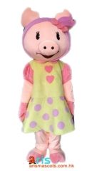 Adult Size Fancy Pig mascot  Costume Animal Character mascot suit for party Custom mascot production