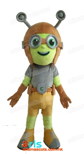 Adult Size Beat Bugs Sing Crick Mascot Costume Cartoon Mascot Costumes for Party Custom Mascot