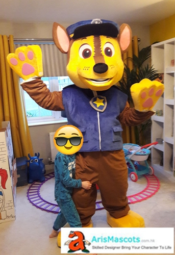 Paw Patrol Chase Mascot Costume For Adultscustom Made