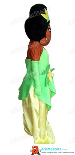 Materialfoam head with fur plush suit  sc 1 st  ArisMascots & Adult Fancy Princess Tiana Mascot Costume Cartoon Character Mascot ...