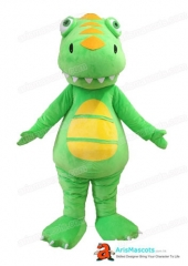Green Dinosaur Mascot Costume Custom Mascot Costumes Advertising Mascots Design