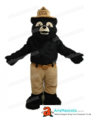 Adult Fancy Black Bear Mascot Costume Custom Sport Mascots for Advertising Team Mascot for Sale Deguisement Mascotte Quality Mascot Maker Arismascots