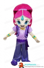 Adult Fancy Shimmer and Shine Mascot Costume Cartoon Mascot Costumes for Sale Professional Mascot Designer