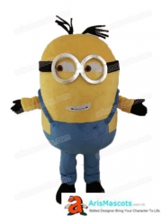 Adult Fancy Minion Mascot Costume Cartoon Character mascot costumes for party custom mascots