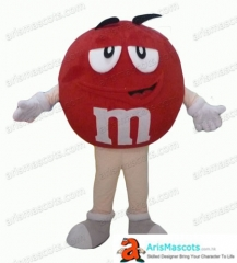 Adult Size Fancy Red M&M's Mascot Costume Advertising mascots Custom Funny Mascot Costumes for Sale