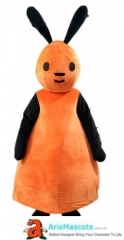 Funny Adult Bing Flop Mascot Costume Cartoon Character Costumes for Kids Birthday Party Mascots Design Company Arismascots