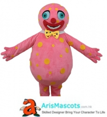 Funny Adult Mr Blobby Mascot Costume Cartoon Character Costumes for Kids Birthday Party Mascots Design Company Arismascots
