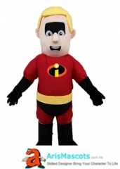 Funny Adult Mr Incredible Mascot Costume Cartoon Character Costumes for Kids Birthday Party Mascots Design Company Arismascots