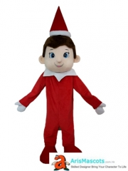Funny Adult Elf On the Shelf Mascot Costume Cartoon Character Costumes for Kids Birthday Party Mascots Design Company Arismascots