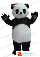 Adult Size Fancy Panda Mascot Costume For Party Deguisement Mascotte Custom Mascots Arismascots Professional Team Mascot Maker Company