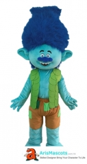 Branch Trolls Mascot Costume For Birthday Party Cartoon Mascot Costumes for Kids Birthday Party Custom Mascots at Arismascots Character Design Company