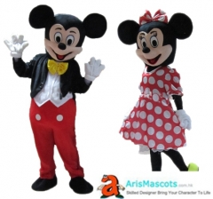Adult Fancy  Mickey and Minnie Mouse Mascot Costume Disney Cartoon Character Mascot Suit Cosplay Mascot Maker