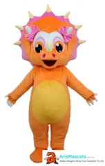 Orange Girl Dinosaur Mascot Costume for Adult Wear Animal Mascots for Party Custom Made Mascots for Sale Deguisement Mascotte Maker