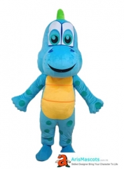 Blue Dinosaur Boy Mascot Costume for Party Custom Made Animal Mascots for Theme Park Character Design Company
