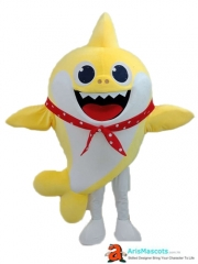 Adult Fancy Baby Shark Mascot Costume for Kids Birthday Party Cartoon Character Costumes Deguisement Mascotte