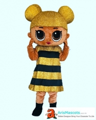 Adult Size  LOL Queen Bee Costume Surprise Doll Queen Bee Mascot Costume Cartoon Mascot costumes for Birthday Party Professional Mascot Design Company