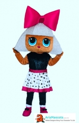 Adult LOL Diva Costume Surprise Doll Diva Mascot Costume Cartoon Mascot costumes for Birthday Party Professional Mascot Design Company