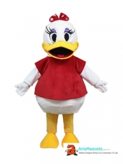 Adult Fancy  Daisy Duck Mascot Costume Cartoon Character Mascot Outfits for Sale Buy Mascots Arismascots
