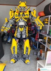 Adult Size Funny Transformers Bumblebee Costume Mascot Cosplay Character Design Custom Mascots Made at Aris Mascots Deguisement Mascotte