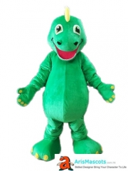 Adult Size Lovely Green Dinosaur Mascot Costume Sports and Team Mascot Custom Mascot Costumes Advertising Mascots Design