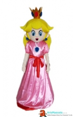Fancy Princess Peach Mascot Adult Costume Disney Princess Character Costumes Party Funny Mascot Costumes