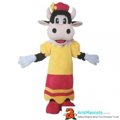 Lovely Carabelle Cow Mascot Costume Adult Funny Cartoon Character Costumes for Party Mascots Deguisement