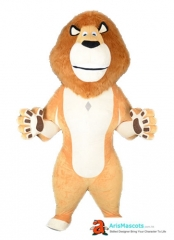Inflatable Suit Adult Madagascar Lion Mascot Costume for Party Event Carnival Dress Holiday Mascots Advertising Mascots at ArisMascots