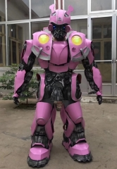 Kids Size Pink Transformers Bumblebee Costume for Party Event Halloween Dress and Company Advertising Mascots Made Deguisement Mascotte