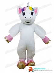 Lovely Adult Unicorn Mascot Costume for birthday party Cartoon Character Mascot Costumes for Sale
