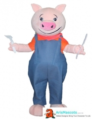 Adult Size Fancy Pig mascot outfit Party Costume Outfits Custom Animal Mascots for Advertising Team Mascot Character Design Deguisement Mascotte