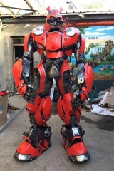 Adult Size Funny Red Transformer Bumblebee Beetle Costume Mascot Cosplay Character Design Custom Mascots Made at Aris Mascots Deguisement Mascotte