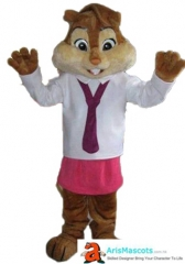 Chipmunk Mascot Costume Alvin and the Chipmunks Costumes for Sale Cartoon Mascot Costumes for Birthday Party Mascotte Mascota
