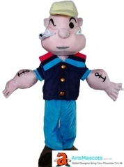 Cartoon Costumes Popeye Mascot Costume Cute Mascot Costumes for Party Custom Mascots Design and Production Mascotte
