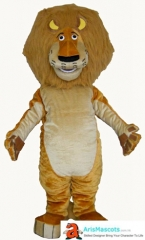 Adult Fancy Madagascar Lion  Mascot Costume for Party Cartoon Mascot Character Design Quality Mascot Maker Aris Mascots