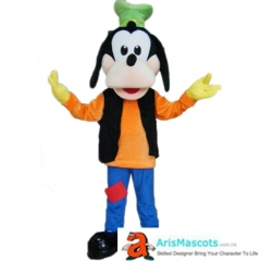 Adult Fancy Goofy Dog Mascot Costume Cartoon Mascot Character Costumes for Birthday Party Buy Mascots Online at Arismascots